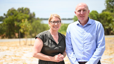 Transport Minister Rita Saffioti and Environment Minister Stephen Dawson have announced a recommitment to introducing laws to rezone 85 hectares of the Beeliar Wetlands from primary regional roads to parks and recreation.