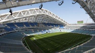 The Fisht Olympic stadium in Sochi, Russia.