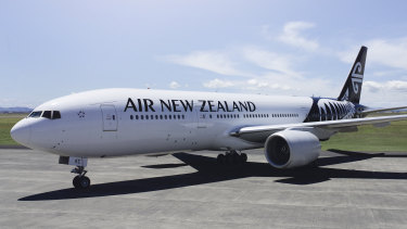 The message was posted as the Air New Zealand flight was preparing for takeoff.