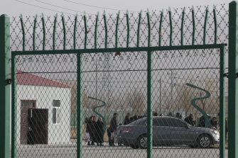An industrial Park in Artux in western China's Xinjiang region, where Western nations say human rights abuses are occurring against Uighur Muslims.