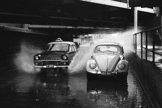 Flash flooding in Melbourne.