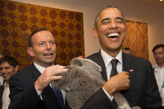 Prime Minister Tony Abbott and US President Barack Obama pictured in Brisbane in 2014.