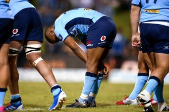 Kurtley Beale had a torrid time against the Chiefs.