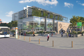 An artist's impression of one of the proposed new stations.