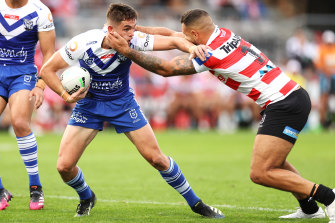 Halfback Kyle Flanagan paid the price for the Bulldogs' poor first half.