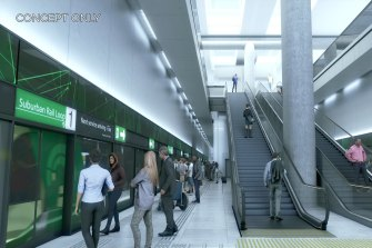An artist's impression of one of the new stations.
