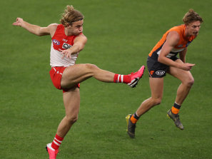 James Rowbottom was one of the Swans' standouts with 20 disposals and eight clearances.