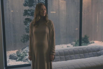 Australia's Yvonne Strahovski is nominated for her performance as Serena Joy Waterford in The Handmaid's Tale. It is her second Emmy nomination.