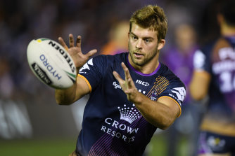 Comeback trail:  Melbourne Storm prop Christian Welch.