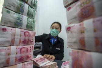 China's economy grew by more than 18 per cent in year-on-year terms.