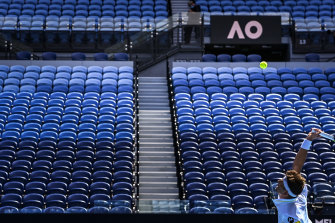 Some of the Australian Open was conducted in front of empty stands.