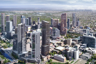 About 30 projects include the Parramatta Square development and the state's first high-rise public high school.