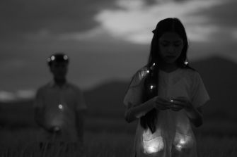 A still from Phan Thao Nguyen's video Mute Grain (2019).