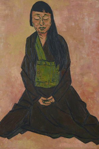 Tony Costa's Archibald Prize-winning portrait of Lindy Lee.