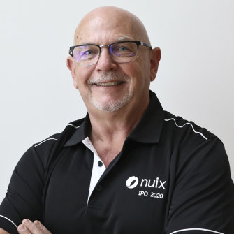 Nuix chief executive Rod Vawdrey at the company's ASX listing in December.