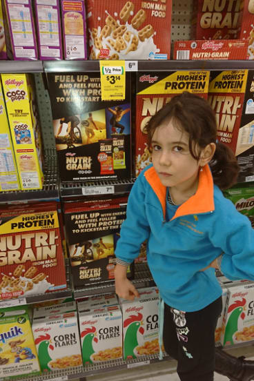 """Daliah Lee, eight, was upset that only boys """"doing something awesome'' were depicted on Nutri-Grain boxes."""
