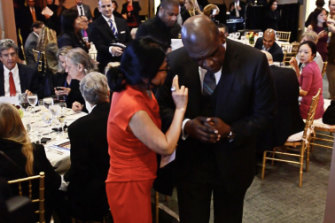 Sheri Yan and John Ashe at the launch of the Global Sustainability Foundation.