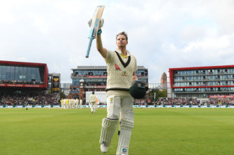 Steve Smith dominated day two of the Old Trafford Test with a masterful double ton.
