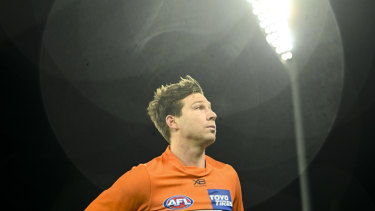 Toby Greene was one of the few GWS Giants who could hold his head high after Friday night's defeat to Hawthorn.