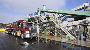 The new crusher in Laverton North turns glass back into sand.