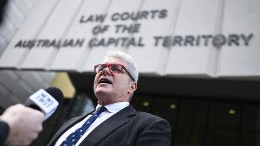 David McBride outside court.