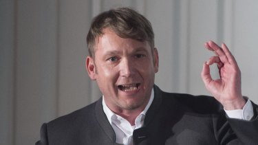 Andre Poggenburg, head of the nationalist AfD in German state of Saxony-Anhalt.