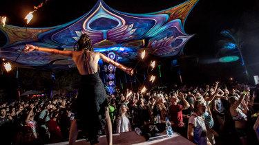 The recent Hill Top dance music festival near Goa, India.