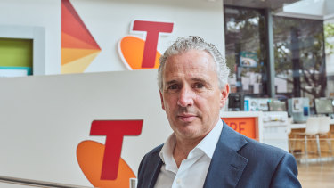 """""""While it was a small number of licensee stores that did not do the right thing, the impact on these vulnerable customers has been significant and this is not OK"""": Telstra chief Andy Penn."""