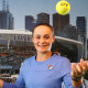 Crowd favourite: Australia's Ashleigh Barty during a photo opportunity before day one of the Australian Open.