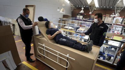 Company flogs hospital bed that can convert into a coffin