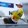 Matt Wearn has all but won Australia's first gold medal of the sailing regatta at the Tokyo Olympics.
