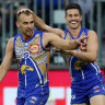 Eagles soar into top four after blowing away the Bulldogs