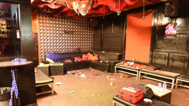 Inflation nightclub after the shooting.
