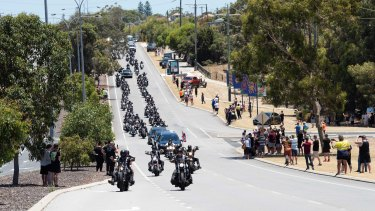 Rebels boss Nick Martin funeral procession making its way to Pinnaroo Valley Memorial Park.