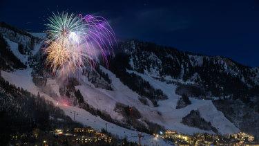 The popular US ski resort of Aspen.