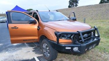 Police believe this orange ute is linked to Mitat Rasimi's death.