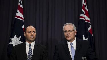The new leadership of the Liberal Party - deputy leader Josh Frydenberg and Prime Minister Scott Morrison.