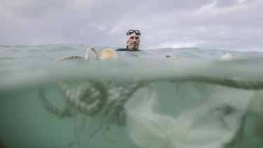 """""""I've been doing open water swimming for a long time - and I've seen a big difference in those 30 years in plastics and microfibres that you find in the ocean."""""""