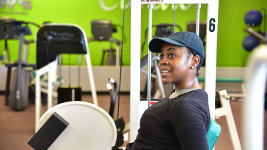 Tawanna Maples returned to Tony's Gym to work out the day it reopened.