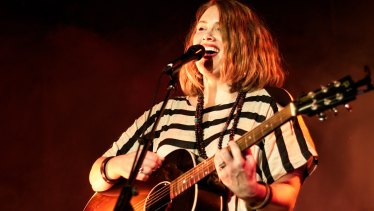 Straight from the heart: Clare Bowditch at the Corner on Saturday night.