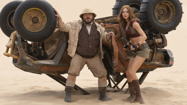 Jack Black and Karen Gillan play it again in Jumanji: The Next Level.