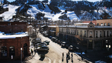 The sun shines down on Aspen, Colorado, last week.  A number of infections have been confirmed at the ski resort.