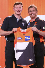Strike two: GWS matched the Blues' bid for Tom Green (left).