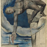 A 19th-century depiction of a scene from the poem where the giant Antaeus sets Dante and the Roman poet Virgil down in the last circle of Hell.