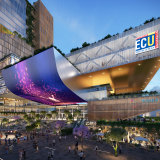 An artist's rendering of the Edith Cowan CBD campus in Perth, due to open in 2025.