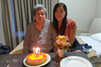 Ms Lim celebrating her 86th birthday in March.