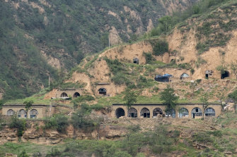 The once-ubiquitous cave dwellings in Yan'an are disappearing now.