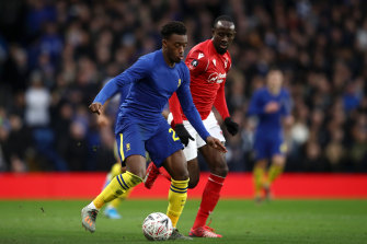Callum Hudson-Odoi, left, in action.
