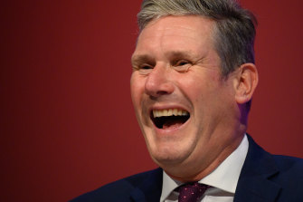 Labour Party leader Sir Keir Starmer made his first headline appearance at a party conference since the 2019 election defeat.