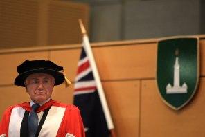 Former prime minister John Howard receiving an honorary doctorate at Macquarie University in April 2012.
